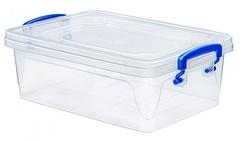 Контейнер для хранения Эльфпласт Fresh Box slim 1,2 литра прозрачный/синий с крышкой 21,5х14,5х7,2 см
