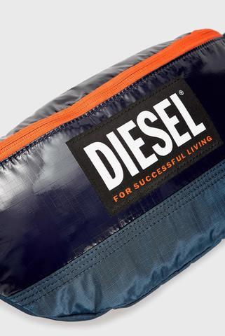 Мужская синяя поясная сумка ORYS LYAM PAT belt bag Diesel