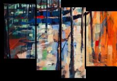 "Модульная картина ""Абстрактный лес"""