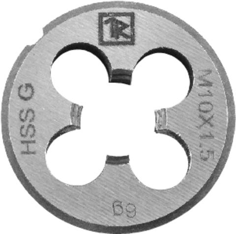 MDG407 Плашка D-DRIVE круглая ручная с направляющей в наборе М4х0.7, HSS, Ф25х9 мм
