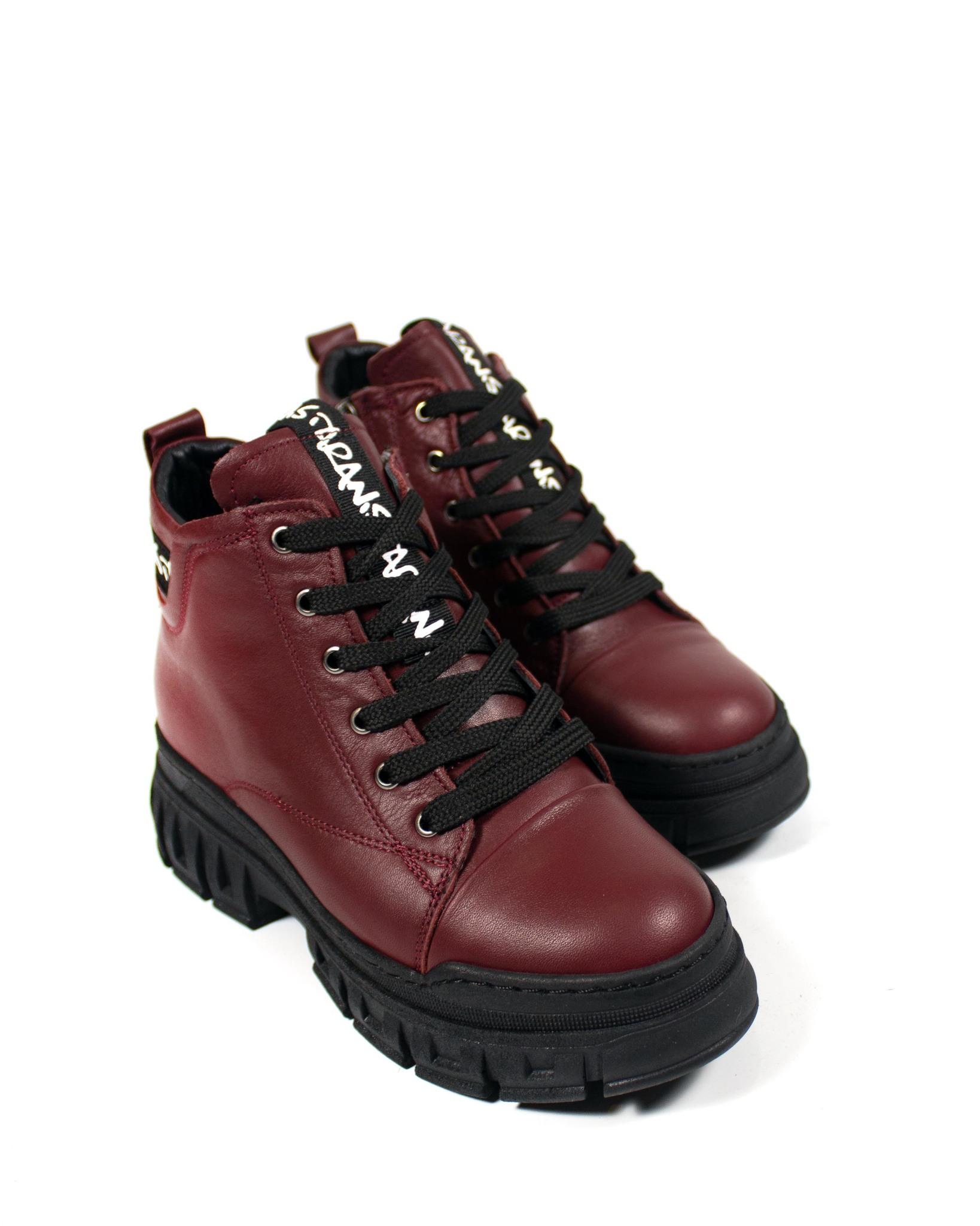 бордовые ботинки Magnoliya