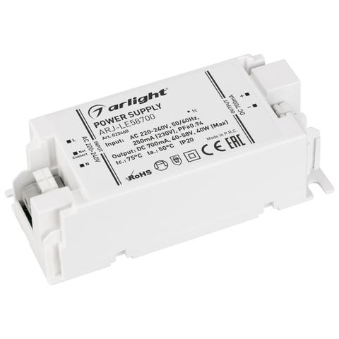 Блок питания ARJ-LE58700 (40W, 700mA, PFC) (ARL, IP20 Пластик, 3 года)