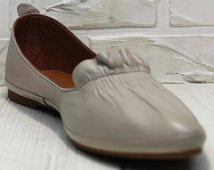 Красивые туфли балетки лодочки на низком ходу Wollen G036-1-1545-297 Vision.