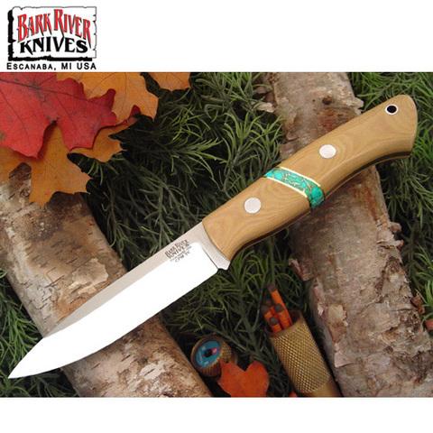 Нож Bark River модель Aurora Antique Ivory Micarta Turquoise Sp.