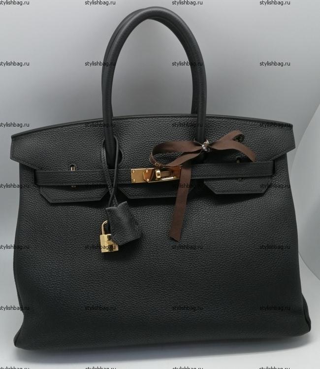 Женская сумка из кожи того Hermes Birkin 35 болотного цвета