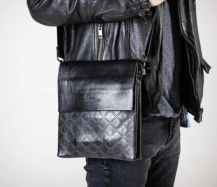 BAG559-1-1 Стильная мужская сумка планшет из кожи