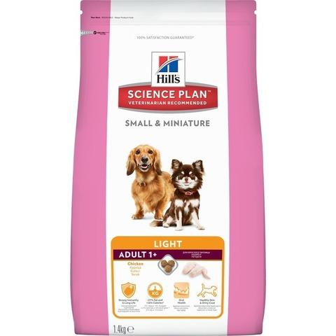 Hill's Science Plan сухой корм для собак мелких пород, склонных к набору веса, курицей Light