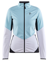 Утепленная ветрозащитная куртка для бега Craft Glide Blue-White женская