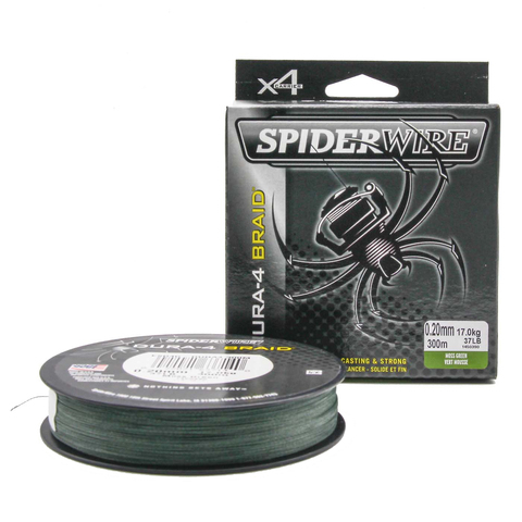Плетеная леска Spiderwire Dura4 Braid Темно-зеленая 300m 0,20m Mgrn