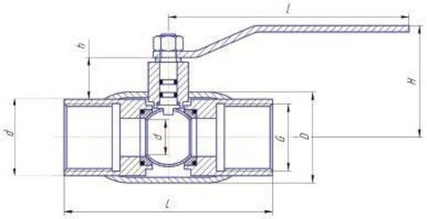 Конструкция LD КШ.Ц.М.GAS.050.040.Н/П.02 Ду50