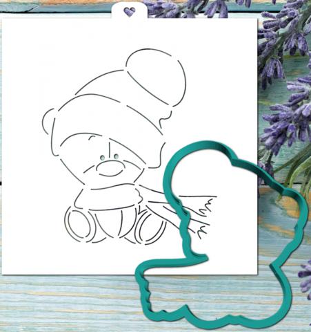Трафарет+форма «Мишка малыш»