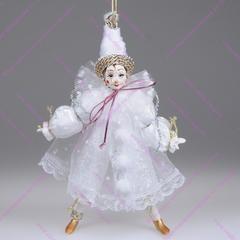 Елочная игрушка Белый клоун