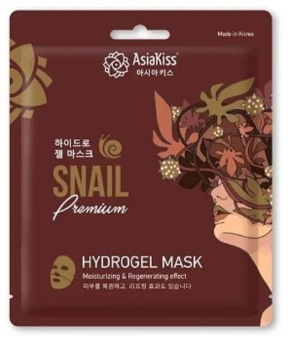 AsiaKiss Hydrogel Mask Snail Premium Гидрогелевая маска для лица с экстрактом слизи улитки 25 гр