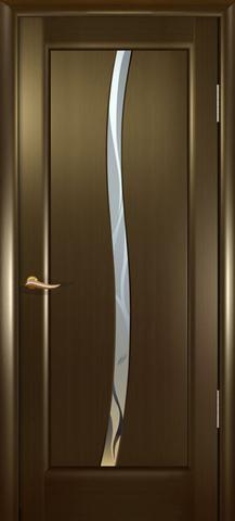 Дверь Новая волна Z стекло белое (венге, остекленная шпонированная), фабрика Океан