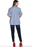 Рубашка для беременных 08492 голубой