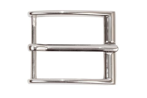 Пряжка для ремня + шлевка 40 мм, никель