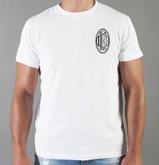 Футболка с принтом FC ACM Milan (ФК Милан) белая 0010
