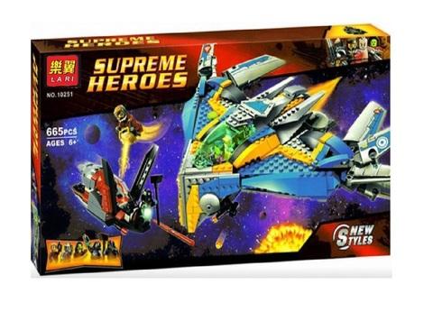 Конструктор Supreme Heroes 10251 Стражи Галактики: Спасение на космическом корабле