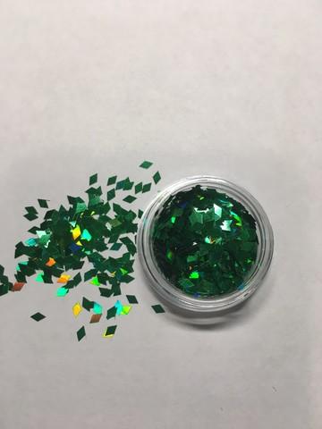 Ромбики для дизайна ногтей/ зеленый цвет купить за 80руб