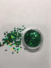 Ромбики для дизайна ногтей/ зеленый цвет