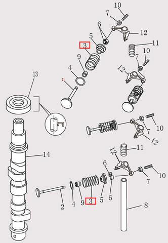 Пружина клапана Φ20*36*2.3 для лодочного мотора F9.8 Sea-PRO (4-3)