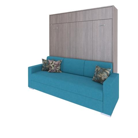 Шкаф-кровать с диваном горизонтальная двуспальная 160 см queen size