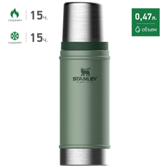 Термос Stanley Classic 0.47L Темно-Зеленый (10-01228-072) - 2