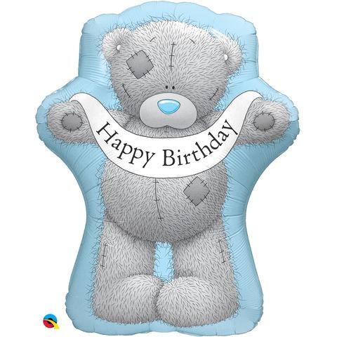 Воздушный шар фигура Мишка Тедди Happy Birthday, 91 см
