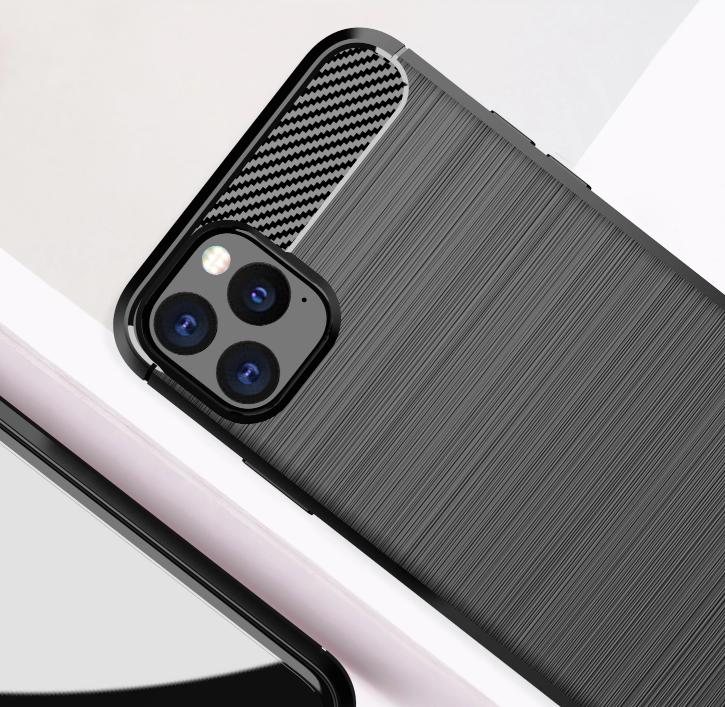 Чехол iPhone 11 Pro цвет Gray (серый), серия Carbon, Caseport