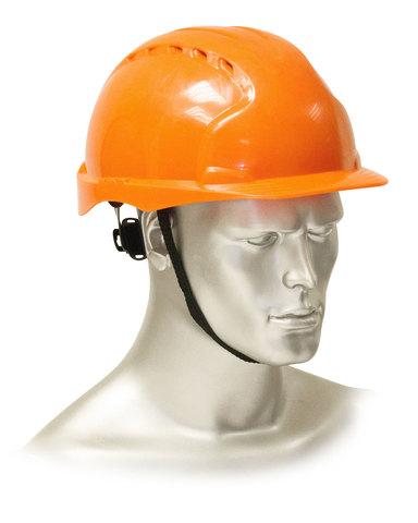 Каска защитная с храповиком оранжевая