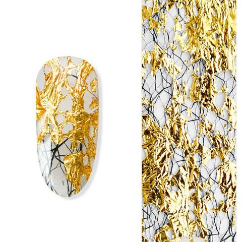 Дизайн сетка-поталь 3 золото/серебро/черный DCP-3