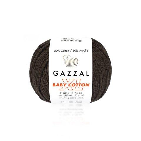 Пряжа Gazzal Baby Cotton XL 3436 шоколад