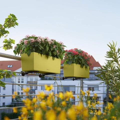 15698 Кашпо LECHUZA Балконера Колор 50 Сине-зеленое все-в-одном