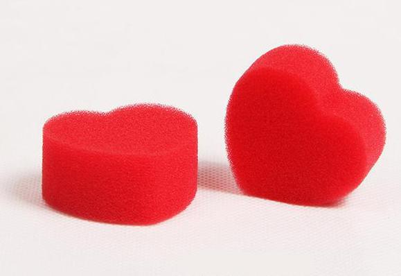 Поролоновые губки-спонджи в виде сердца
