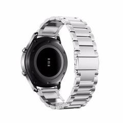 Ремешок для часов Samsung Gear S3/Galaxy Watch 46 блочный (серебристый) 22мм