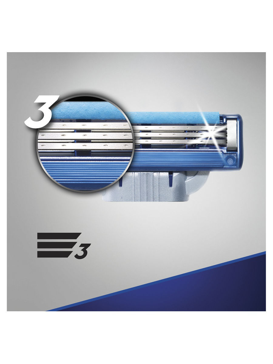 Сменные кассеты для бритья Gillette MACH3 Turbo (16шт)