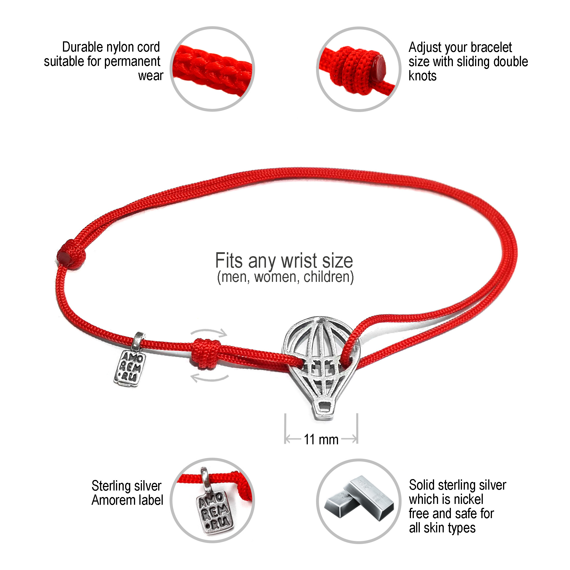 Balloon Bracelet, 925 Silver