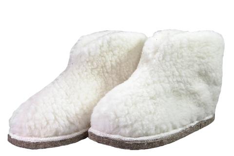 Меховые чуни/тапочки 6801533 - белый