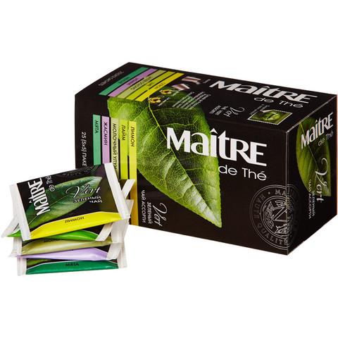 Чай Maitre Зеленый ассорти 25 пакетов