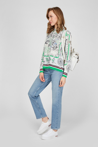 Женская шелковая блуза с принтом Tommy Hilfiger