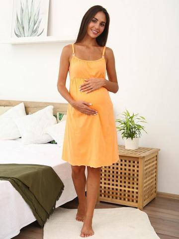 Мамаландия. Сорочка для беременных и кормящих, оранж