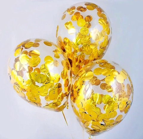 Резиновые шары с конфетти  1 шт. #1499