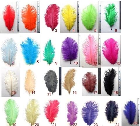 Перья страуса  декоративные  15-20см.  (цена за 1 шт.) (выбрать цвет)