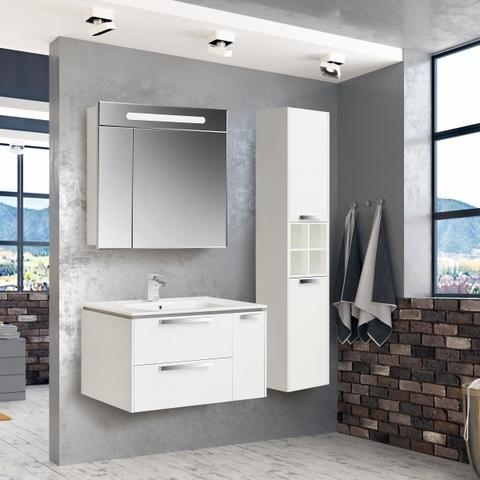Комплект мебели Roca Lago 80 см (тумба с раковиной+зеркало+пенал)