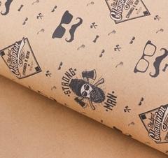 Бумага упаковочная крафтовая Strong man, 50 × 70 см, 5 листов.