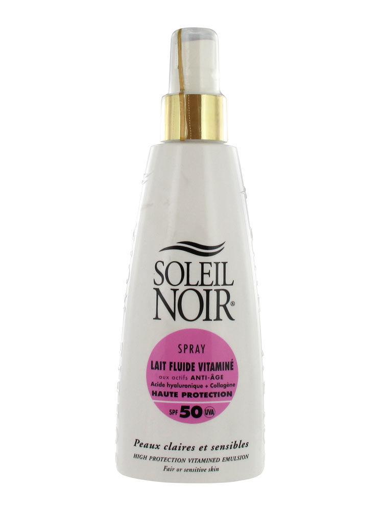 Молочко-Спрей антивозрастное витаминизированное солнцезащитное для тела Soleil Noir Lait Fluide SPF 50 150 мл