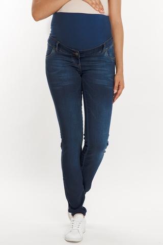 Утепленные джинсы для беременных (SKINNY) 09579 синий