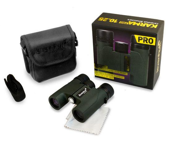 Комплект Levenhuk Karma Pro 10 25: бинокль, сумка, ремень