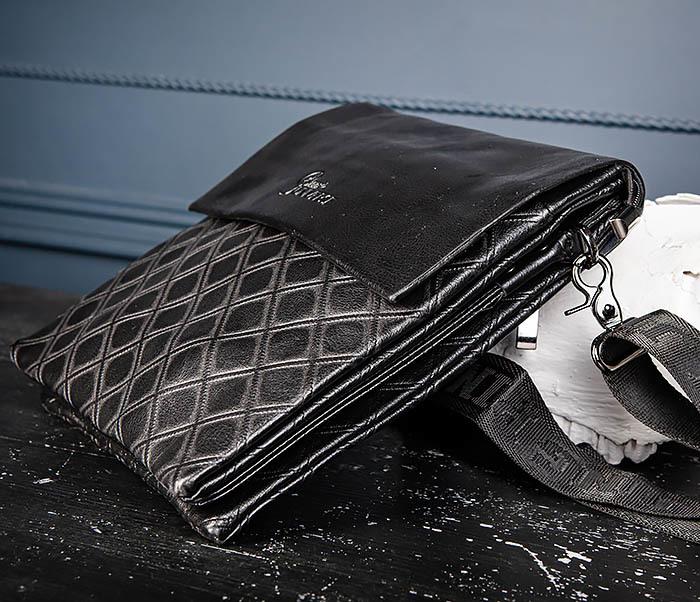 BAG559-1-1 Стильная мужская сумка планшет из кожи фото 07