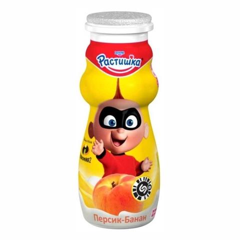 Йогурт питьевой РАСТИШКА Персик Банан 90 г Danone РОССИЯ